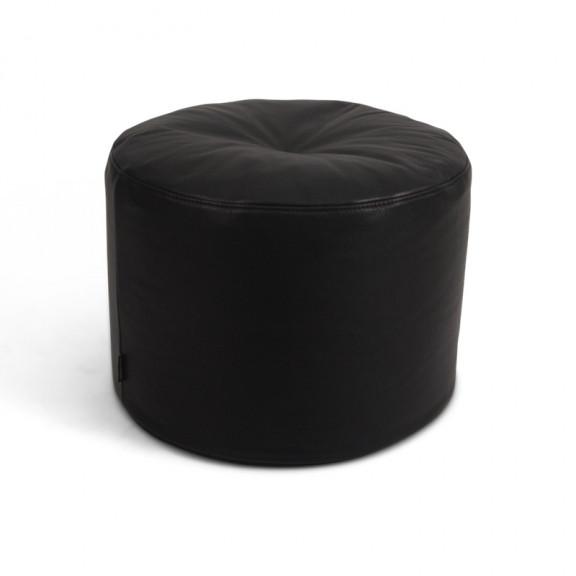 Marokko puf - sort læder