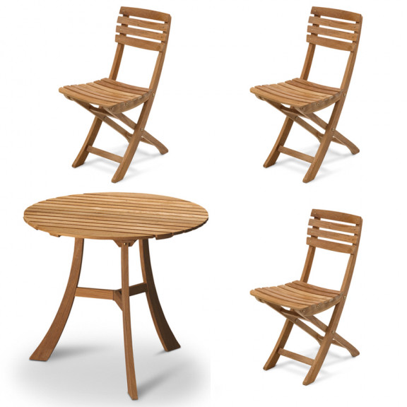 Skagerak Vendia bord inkl. 3 stole