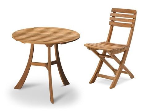 Vendia bord + 3 stole