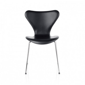 7'er stol fuldpolstret - Serie 7™ (3107) - sort læder