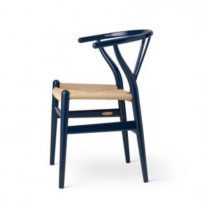 CH24 Wegner Y stol - Birthday Edition Glossy Navy Blue