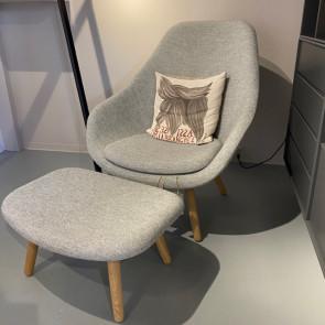 Udstillingsmodel - HAY Lounge stol inkl. skammel