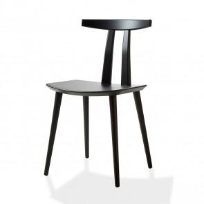 J111 spisebordsstol i sortlakeret bøg