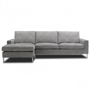 Odense sofa med chaiselong - stof